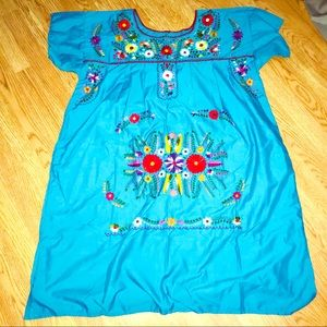 Dresses & Skirts - NEW Authentic Mexican Floral Embroidered dress
